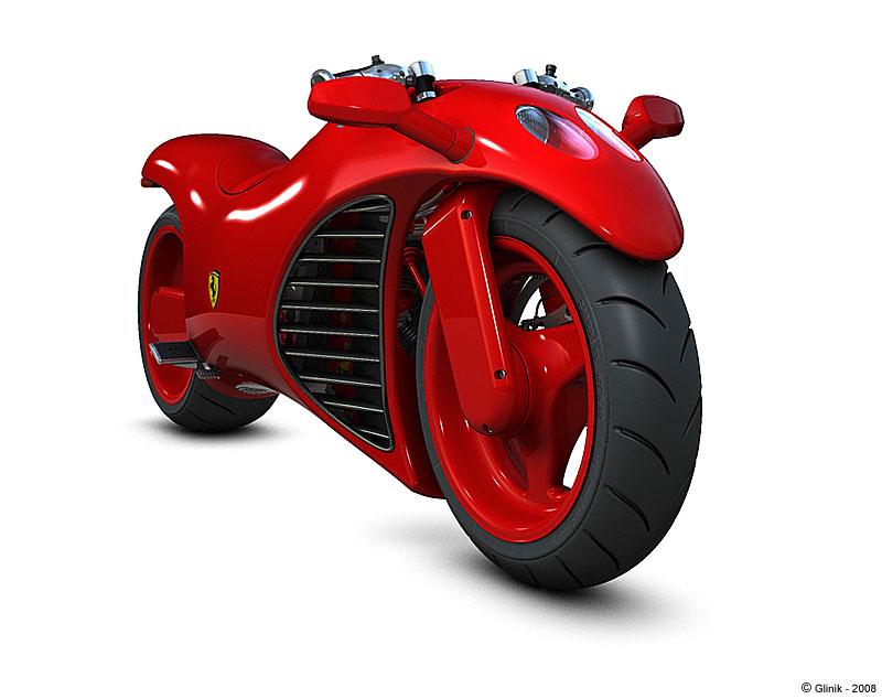 Blue Ferrari Motorcycl...